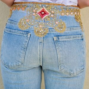 Free People Sequin Jeans